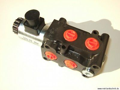 Elektro 6/2 Wege Umschaltventil 12V Frontlader zweiter.Steuerkreis Hydraulik