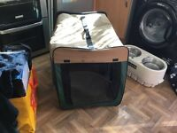 Large fold up dog kennel (dog not included)