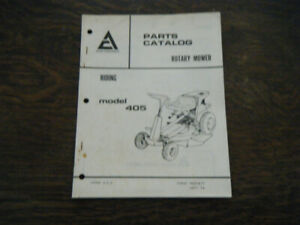 Allis Chalmers 405 Riding Mower #9003871 Parts Catalog