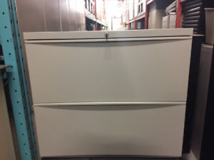 Filing Cabinet - Teknion Leverage 2 Drawer Lateral Filing