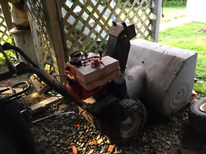 Snow blower and utility trailer