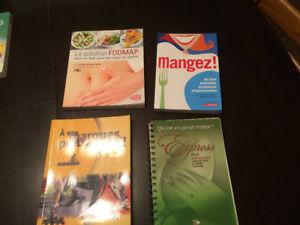 Divers livres santé, alimentation, recettes, poids
