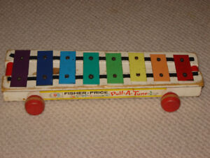 Fisher Price vintage xylophone....pull toy