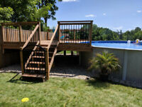 Decks , fence (wood/chainlink), retaining walls, brush removal