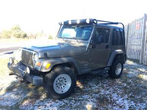 2005 Jeep TJ Sahara Sport 6 speed - $8000 certified
