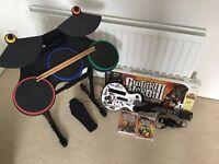 Wii Guitar Hero Set