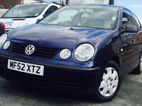 2002 Volkswagen polo 1.2 petrol *ONLY P/X CLEARANCE*