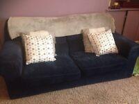 Blue Corduroy Sofa £45 ono