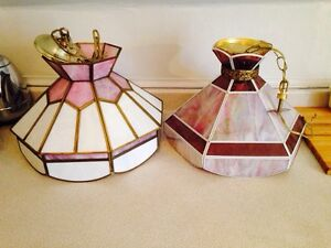 Vintage Stained Glass Chandeliers, $30 each
