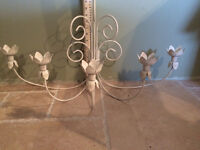 Wrought iron wall candleabra