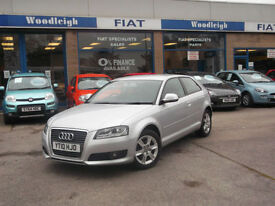 10 AUDI A3 1.6 TDI 3DR SE £20 TAX AIR CON ALLOYS FSH