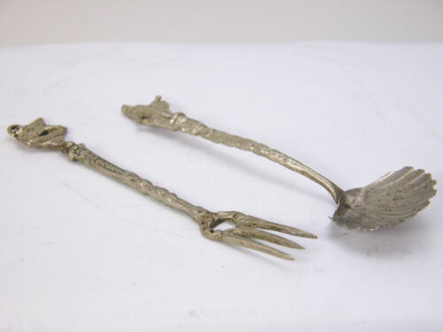 Vintage Baby SPOON & FORK Utensil Set Made In Italy