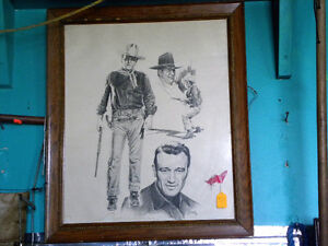 John Wayne Pencil Sketch BANSE