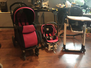 Peg Perego Stroller and Car seat set