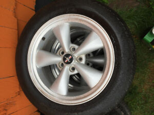 Mustang tires n wheels, 17 inch very good condition