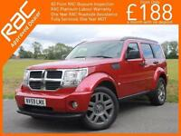 2009 Dodge Nitro 2.8 CRD Turbo Diesel SXT 4x4 4WD 6 Speed Full Leather Heated Se