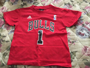 Adidas T-Shirt size MEDIUM (5/6) NBA BULLS 1