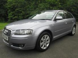 06/06 AUDI A3 2.0 TDI SE 5DR HATCH IN MET GREY WITH SERVICE HISTORY