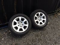 "Genuine 16"" BMW E60 E61 Style 134 Alloy Wheels & Tyres x 4"