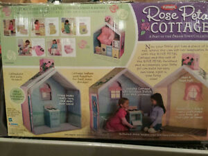 Rose Petal Cottage Playhouse with accessories