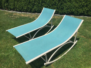 50$ for BOTH LAWN CHAIRS - perfect for summer backyard!