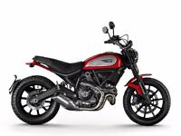 Red Ducati Scrambler Icon - immaculate