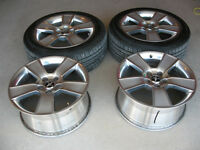 """18"""" Chrome Mustang wheels and tires"""