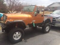 Lifted 1995 project jeep YJ