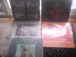 5 Vintage Otis Redding Lp records from Collection-Look