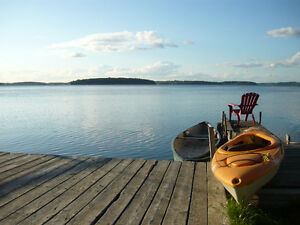Rice lake front cottage 3 bedrooms vacation rental BEAUTIFUL VIE