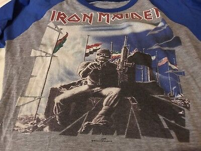 Iron Maiden Vintage World slavery tour, two minutes to midnight T Shirt Jersey