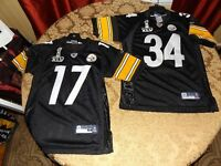 Two Super Bowl XLV Pittsburgh Steelers Jerseys