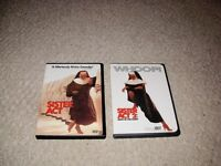 SISTER ACT 1 & 2/SELENA DVDS SET FOR SALE!