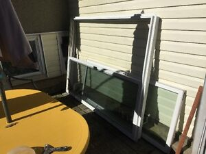 Vinyl sliding door with screen 60 * 80