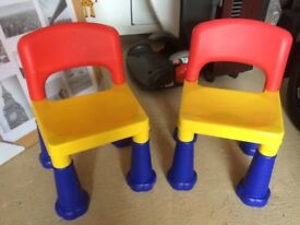 Two toddler Lego chairs