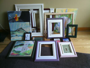 Frames and artwork cadres et oeuvres d'arts