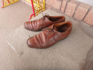 brown leather uppers, good quality shoes