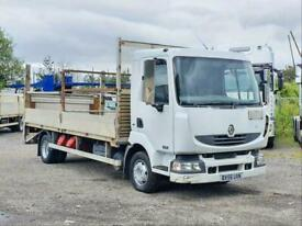 2006 RENAULT MIDLUM 150 BHP MANUAL 7.5 TON ALLOY DROPSIDE FLATBED WITH TAIL LIFT
