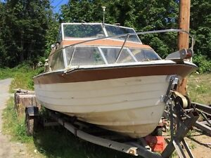 18ft boat and trailer w/120hp outboard