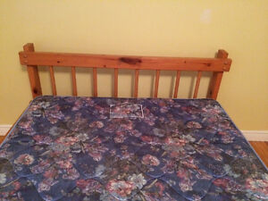 Wooden Bed Frame with Mattress St. John's Newfoundland image 2