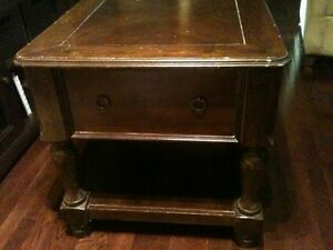 Antique side table - solid piece
