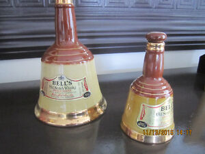 2 Bell's Wade Decantors from the 1980's Home Bar accessories