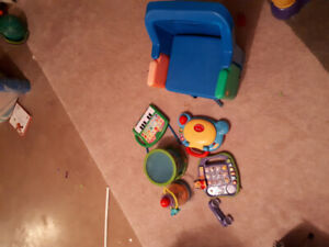 Safety first seat and toddler toys (selling as lot)