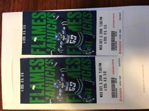 Canuck Season Opener 2 Tickets $150 each