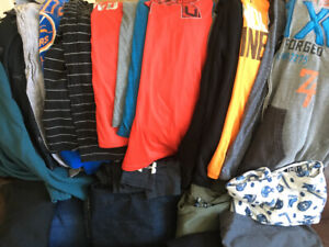 Boys L, XXL and men's small lot of clothes. $25 for the lot