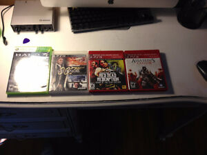 4 ps3 games and 1 xbox game