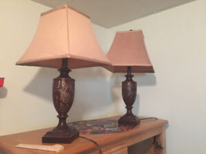 Pair of Table Lamps (Bedside or Living Room)