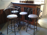 four bar stools