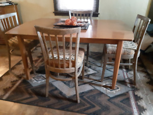 Retro, Scandinavian Table and Chair Set
