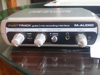 m-audio fast track guitar mic recording interface in new cond